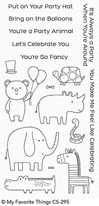 Happymade - My Favorite Things clear stamp set - Safari Party (CS-295)